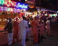 Harinama - Walking street Pattaya Thailand
