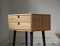 Nightstand / Bed SIde Table in Solid Oak