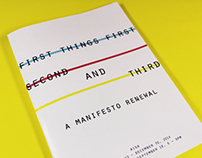 first things first // a manifesto renewal