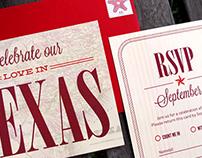 We Found Love in Texas – Letterpress Wedding Invitation