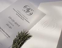 Winter wedding invite and logo