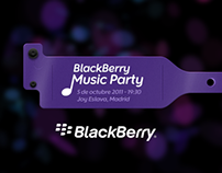 BlackBerry Music Party Microsite