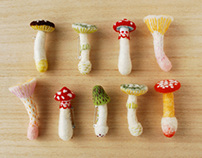 Mushroom Brooches