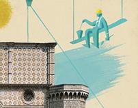 Eni poster for Basilica di Collemaggio