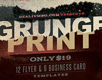 18 Ready to Print Grunge Templates