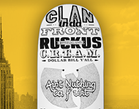 Wu-Tang Clan / 36 Chambers tribute - type skateboard