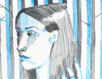 Серо-синий портрет / Grey & blue portrait