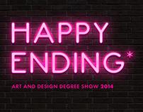 Happy Ending; Art & Design Degree Show Concept