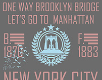 brooklyn bridge vector art