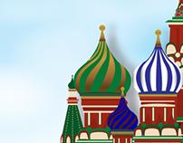 St.Basil Travel Poster