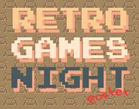 Retro Games Night Poster