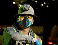 Construction Workers: filter masks