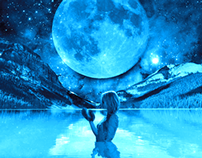 moon with water