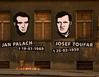 38 nails for Josef Toufar and Jan Palach