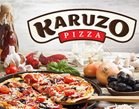 Karuzo Pizza. Logo and packing design.