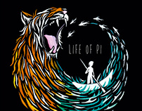 Life of Pi Book Jacket (Student Project)
