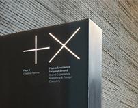Plus X Creative Partner Identity Design