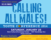 Calling All Males Youth Conference collateral