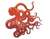 Octopus Block Reduction Print