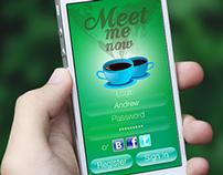 MeetMeNow. Mobile app design concept