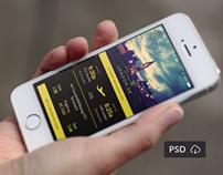 Flybi IOS Application. Free PSD