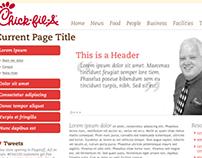 Chick-Fil-A Intranet Web Design