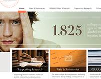 College Drinking Website Redesign WIP