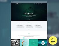Freebie – Brandi Creative One Page Multi-Purpose PSD