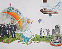 Food Fight - Mural