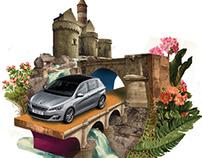 Illustrations for Peugeot Magazine