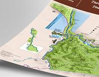 National park Una tourist map