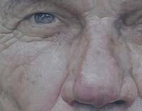 """""""A Mind at Peace"""" (colored pencil portrait) 32""""X40"""""""