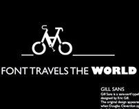 Font travels the world
