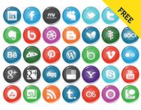 Bright Social Icons