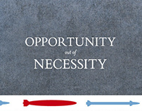 Opportunity out of Necessity book design