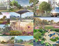 Indian Villas Landscape Visualization - Group Housing