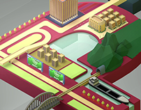 City on the letters / promo video and illustrations