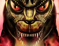 Godzilla, Rodan, King Ghidora & Mothra