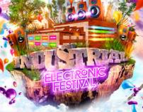 """Afiche oficial """"Industrial Electronic Festival 2014""""."""