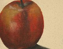 Apple in acrylic