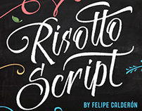 Risotto Script - Available on MyFonts 70% off