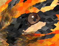 Geometric Animal Project - Tiger