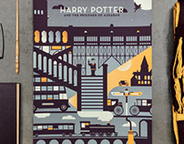 Harry Potter Screen Printed Poster