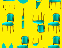 Blue Chair / Yellow Background Project