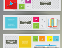 Banners and Brochure Covers Flat Design.