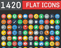 1420 Flat Icons - Colorful Icons Set | DailyDesignMag
