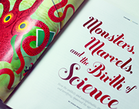 Layout and illustrations for Nautilus magazine