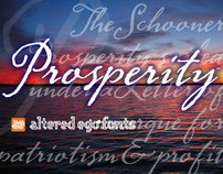 Altered Ego Fonts AE Prosperity script font