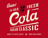 Grans Cola – packaging and bottle design