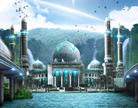 Outer space mosque